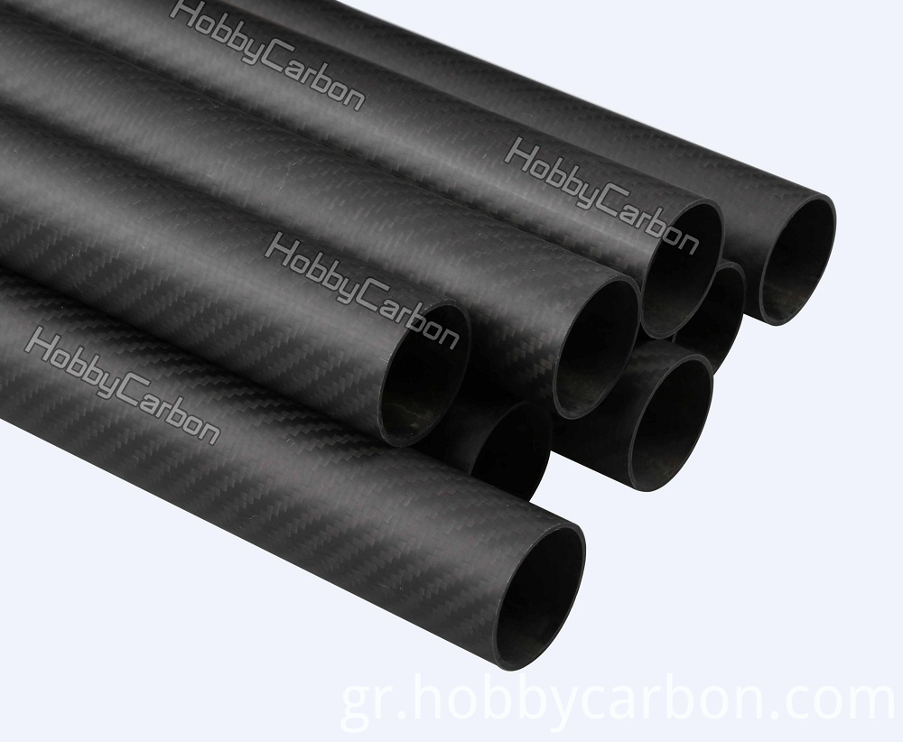 3k twill matte carbon glass tubes 25x23x500mm