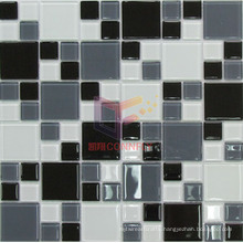 Grey Bathroom Used Glass Mosaic Tiles (CFC513)