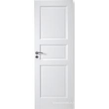 Porta composta exterior e interna branca personalizada painel do MDF com Stile e trilhos