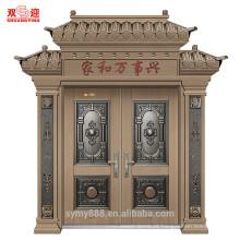Construção residencial de aço da parte alta da porta da rua da entrada luxuosa da casa de campo de Roma