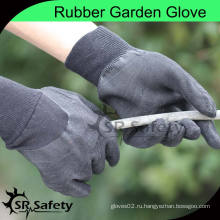 SRSAFETY 100% Хлопковая блокировка латексной садовой перчаткой