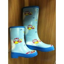 Cartoon Owl Rubber Half Rain Boots Size 36 For Women And Kids