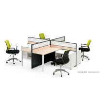 Cross Shape 4 People Modern Office Workstation Partitions