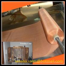 Emi d'armure de la Chine fournisseur emi bouclier faraday cage cuivre maille