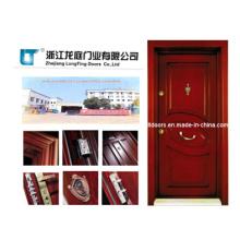 Puerta acorazada de madera de estilo turco