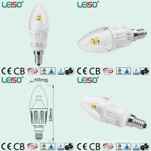 Luz branca da vela do diodo emissor de luz do corpo da cor com ângulo de feixe de 330 graus