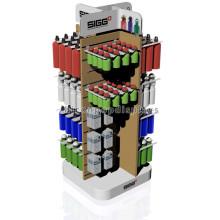 Tischplatte Holz Slatwall Store Fixture Customized Novel Kunststoff Kleine Wasser Flasche Display Racks
