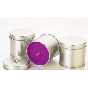Venta al por mayor velas votivas perfumadas velas de té en la lata con tapas