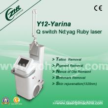 Y12 ajustable ND YAG tatuaje láser eliminación belleza dispositivo