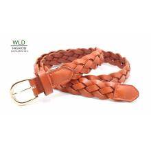 Fashion Basic Braided Genuine Top Leather Lady Belt Lky1166