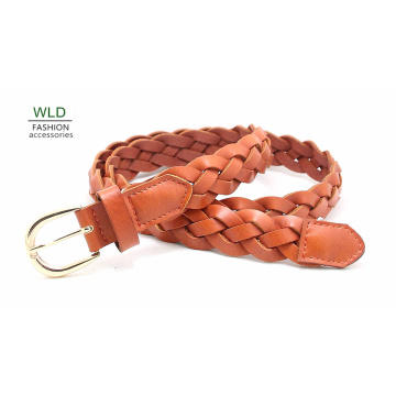 Fashion Basic Braided Genuine Top Leather Lady Belt Lky1166
