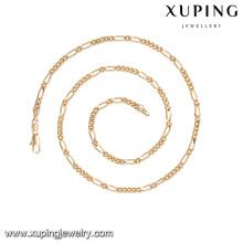 42265 xuping guangzhou moda imitação de jóias simples padrão promocional correntes de ouro colar sem pedra