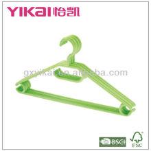 Ensemble de cintres en plastique de 5 pcs avec clips, barre de pantalons et encoches