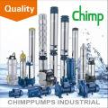 Pompe à eau électrique centrifuge submersible monophasée de chimpanzé pour le puits profond