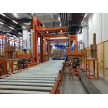 Automatic pallet wrapping, strapping and paper corner application system