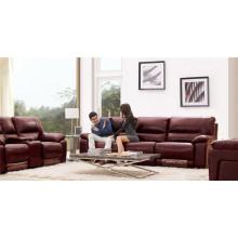Sofá de salón con sofá moderno de cuero genuino (919)