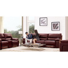 Canapé de salon avec canapé moderne en cuir véritable (919)