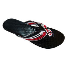 Women's Flip-flop with Woven PU Strap and Anti-slip Outsole