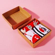 Garantia de qualidade personalizado 3 pacotes de meias
