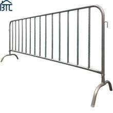 8.5FT Heavy Duty Pre-Galvanized Steel Barricade Metal Crowd Control Barricade.