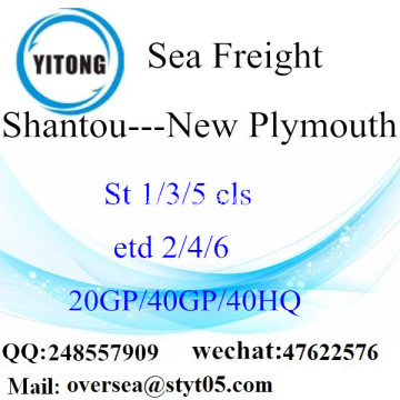 Shantou Port mare che spediscono a New Plymouth