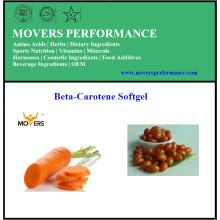 Vente chaude de bêta-carotène Softgel de haute qualité