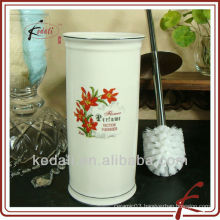 ceramic toilet brush holder with flower design
