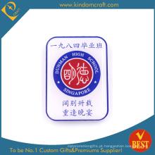 O projeto pessoal imprimiu o crachá de aço inoxidável do Pin da lembrança de China