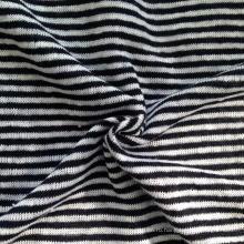 Льняная трикотажная полосатая ткань (QF14-1546-SS.)