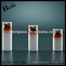 Botellas sin aire de la loción de los cosméticos 50ml, botella sin aire de PMMA / as / abs / san / PP