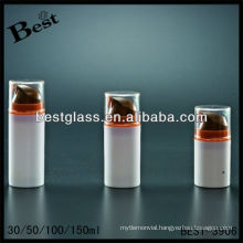 50ml cosmetics lotion airless bottles, PMMA/as/abs/san/PP airless bottle