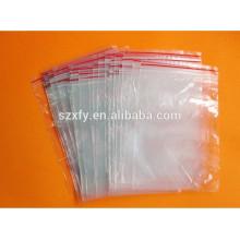 Material de PE sacos de embalagem plásticos reseláveis