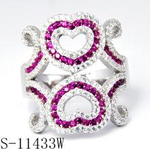 2015 neueste Schmuck verziert mit Steinen bunten Zirkonia Ring (S-11433W)
