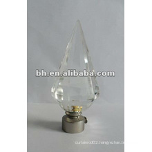 new fund peak crystal curtain finial,glass ball,curtain with crystal,glass triangle rod