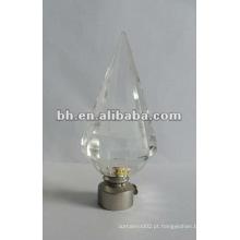 Novo fundo pico de cristal cortina finial, bola de vidro, cortina com cristal, triângulo de vidro haste