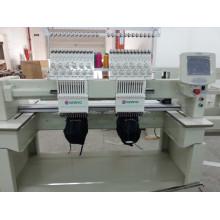 Machine de broderie d'ordinateur de conception de bonne vitesse à grande vitesse de double 9 et 12 couleurs