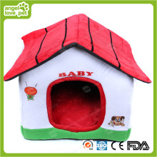 Lovely tecido de algodão Pet House (HN-pH566)