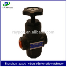 Válvula hidráulica manual de controle de fluxo