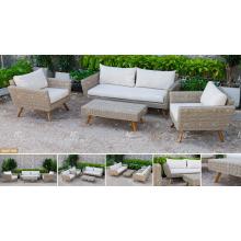 COLLECTION CANARIENNE - Ensemble de canapé Poly-PE en rotin le plus récent pour les meubles extérieurs de jardin