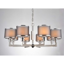 Interior Iron Lighting 8 Lights Foyer in Chrome with Double Shade (SL2022-8)
