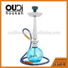 Venta al por mayor de alta calidad de vidrio azul transparente hooka mya