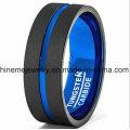 Shineme Schmuck zwischen Silber Blau Wolfram Ring