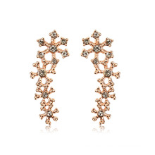 Incredible Gold Earring designs high quality 22k gold natural crystal stud earring