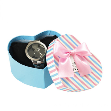 Box Heart Watch Watch Shaped With Ribbon