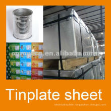 EN10202 Prime tinplate T5CA temper 5.6/5.6 tinning for food can prodution
