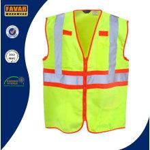 Men′s 100% Polyester Hi Vis Reflective Tape Safety Vest