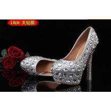 Nova moda de diamantes de casamento sapatos de salto alto (hcy02-1533)