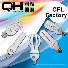 CFL PCB energía ahorro lámpara bombilla CFL lámpara espiral, forma de U