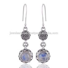 Pendentif en pierres précieuses Rainbow Moonstone 925 Sterling Silver Earring