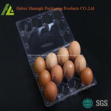 caixa de ovos de plástico transparente